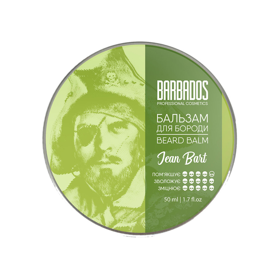 Бальзам для бороды Barbados Pirates Beard Balm Jean Bart