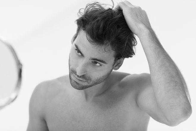 Сухой тип мужских волос - фото