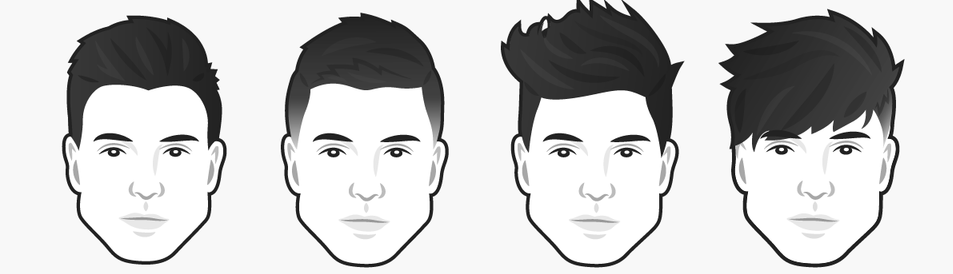 стрижки для мужчин с треугольной формой лица